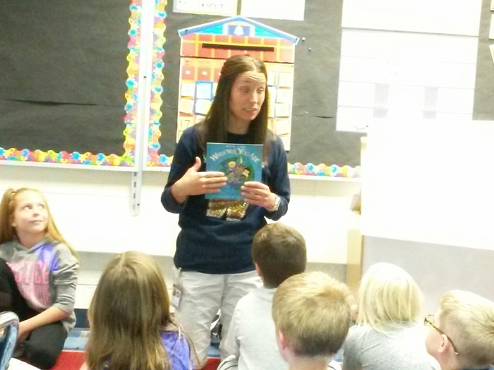 Mrs. Lewis reads Muskrat and Skunk