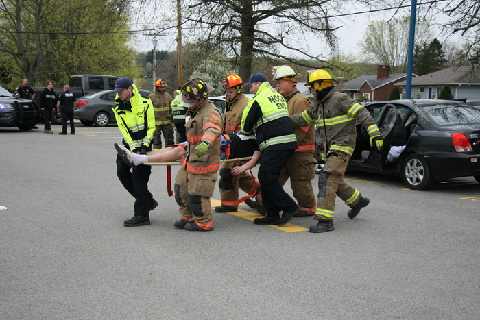 First Responders at WAHS mock accident