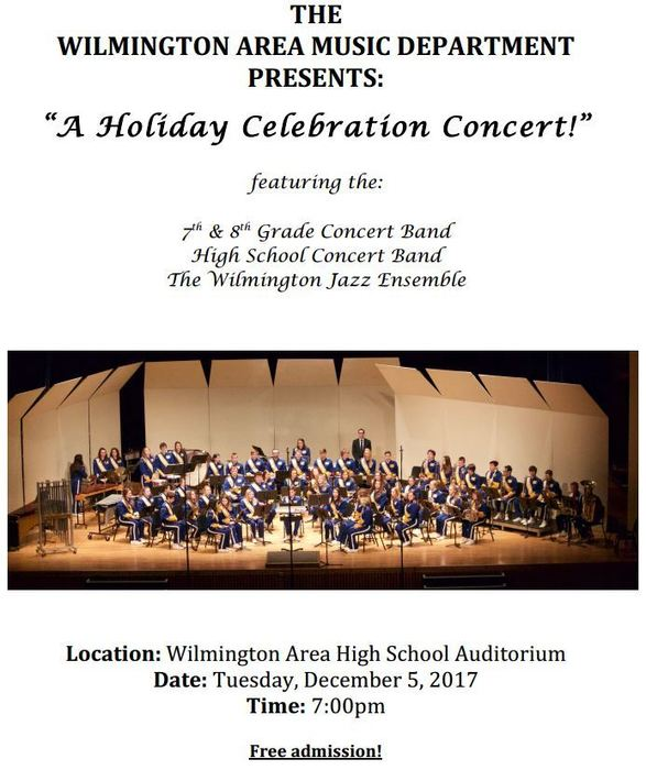 Holiday Band Concert Poster