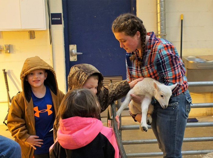 FFA Club's Petting Zoo for Elementary Students